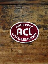 "Vtg Antronics Instrumentation ACL Sew On Patch 4"" HVAC"