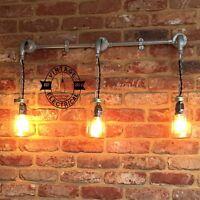 NEW KILNER 3 x JAM JAR WALL LIGHT VINTAGE INDUSTRIAL LAMP SCONCE WORKS LED