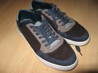 WORN ONCE MENS BLUE ZARA MAN FASHION TRAINERS LACE UP CASUAL SHOES 8 UK 42 EU