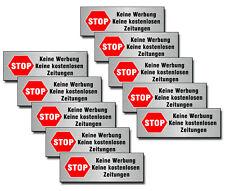 Stop Bitte Keine Werbung Reklame 10 Tlg Briefkasten Aufkleber