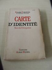 CARTE D IDENTITE - RECIT D OCCUPATION