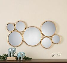 Gold Rings Circles Wall Art | Mirrored Contemporary Modern