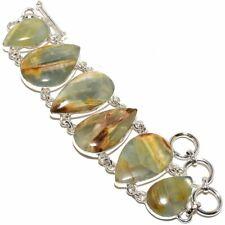 "Aquateen Gemstone Handmade 925 Sterling Silver Bracelet 6-9"""