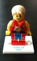 Genuine Lego Team GB - Wondrous Weightlifter Minifigure 8909 Olympic