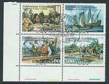 1992 ITALIA USATO BLOCCO COLOMBO - PK-2