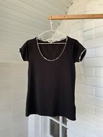 Women's Burberry Brit Black Short Sleeve T-Shirt Tee Top Size - M