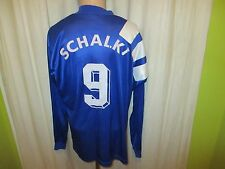 "FC Schalke 04 Original Adidas Langarm Trikot 1994/95 ""Kärcher"" + Nr.9 Gr.L"