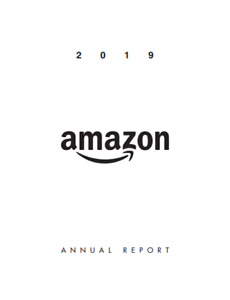 Amazon.com Inc. Annual Report for year 2019 (Hard Copy)