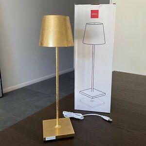 ZAFFERANO POLDINA PRO Portable LED Table Lamp Gold Leaf LD0340BFO