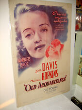 OLD ACQUAINTANCE 1943 ORIGINAL MOVIE POSTER - BETTE DAVIS - GIG YOUNG