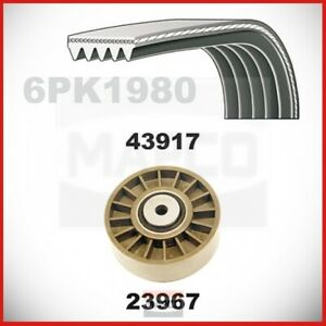 V-Ribbed With Tension Pulley For Mercedes MB W 201 124 C 124 S 124