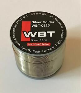 WBT 0825 Silver Solder silber Lötzinn Silberlot 250 Gramm Bleifrei Neu