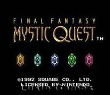Final Fantasy Mystic Quest - SNES Super Nintendo Game