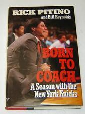 "RICK PITINO/BILL REYNOLDS ""BORN TO COACH"" (1988) 1ST EDITION HC in DJ NY KNICKS"