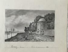 """A DE MAISONNEUVE """"BERCY SUR LA SEINE"""" 1854"""