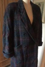 Vintage Plaid Burberry Wool Tweed Coat Size 8-10 Column Style