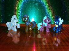 "My Little Pony MLP 2"" transparent ponies blind bag 4 pony set Christmas Gift"