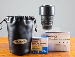 Mint Tamron 90mm F2.8 SP Prime Macro Lens Adaptall Interchangeable Mount/Minolta