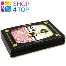 COPAG JUMBO INDEX DOUBLE DECK 100% PLASTIC POKER PLAYING CARDS 2 DECKS CASINO