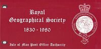 ISLE OF MAN Presentation Pack 1980 ROYAL GEOGRAPHICAL SOCIETY 1830-1980
