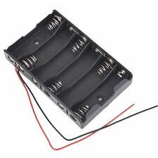 6 x 1.5V AA 2A CELL Batteries Holder Storage Box 9V Case With Lead Wire