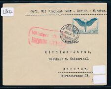 28177) Schweiz AdAA Flp-Brief Genf - Zürich - München 16.7.24, EF 65Rp