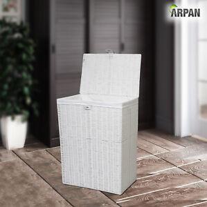 Arpan white laundry basket medium