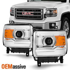 Fit 2014-2018 GMC Sierra 1500 2500HD 3500HD Projector Headlights Replacement