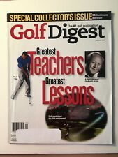 New listing Vintage Golf Digest Magazine, January 2000, Special Collector's Issue, 140 Pages