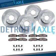 Front & Rear Brake Rotor + Ceramic Pad 2000 2001 2002 - 2004 Ford F-150 4WD 5lug