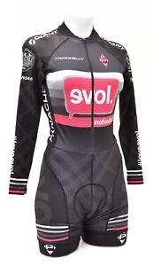 Panache Evol Foods Long Sleeve Cycling Skinsuit Women MEDIUM Black Race Giant