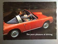 "1967 / 1968 Porsche 911, 911L, 912 ""Pure Pleasure"" Brochure / Prospekt RARE!! VG"