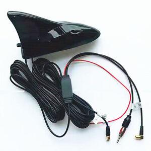 Car Shark Fin Roof Antenna DAB+ Receiver Stereo Radio FM/AM Signal Aerial Decor