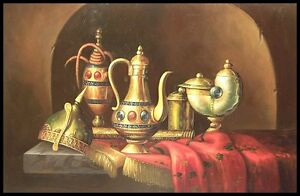 """Still Life with Brass, 36""""x24"""" Oil Painting on Canvas"""