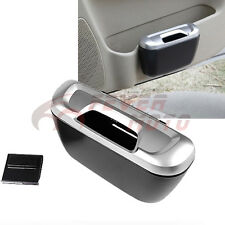 Car Cargo Trash Can Carbage Storage Silver Box Bin Container For Honda Accord FM