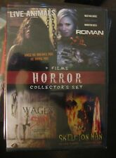 HORROR COLLECTORS SET DVD LIVE ANIMALS, ROMAN, WAGES OF SIN, SKELETON MAN NEW