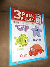 (NEW, Sealed) 3-Pack Patch Jigsaw Puzzles - Ages 1 1/2+ (4-6 Pieces Each)