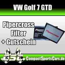 VW Golf 7/VII GTD 2.0   184PS   Pipercross Sportluftfilter/Tauschfilter