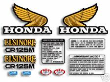 1974-75 Honda CR 125M Elsinore 11pc. decal set