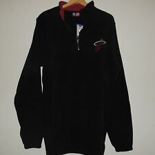 NBA Miami Heat 1/4 Zip Fleece Jacket New Big Size Mens 3XL