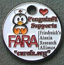 Penguin #1 FARA Pathtag Geocoin Alt 20306 Friedreichs Ataxia Research NURSE