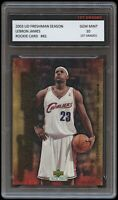 LEBRON JAMES 2003 UPPER DECK UD FRESHMAN SEASON 1ST GRADED 10 ROOKIE CARD LAKERS