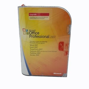 Microsoft Office 2007 Professional Word Outlook Excel  Publisher Upgrade