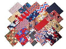 """20 10""""Patriotic Quilting Fabric Layer Cake Squares!!  NEW ITEM #1"""
