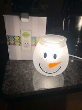 """NEW IN BOX Scensty Snowman """"Frosty Glow"""" Full Size Warmer NIB"""