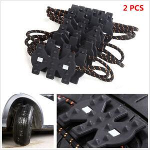 4 Pcs Widened Car Truck Winter Snow Tire Antislip Chains Easy Installation Belt