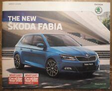 SKODA FABIA RANGE orig 2015 UK Mkt Prestige Sales Brochure