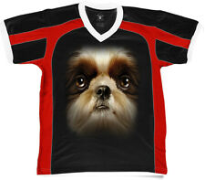 Big Shih Tzu Head Canine Small Toy Dog Breed Best Friend Retro Sport T-shirt