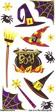 EK SUCCESS STICKO STICKERS - BROOMSTICK SPIDER CAULDRON WAND - WITCHES BREW