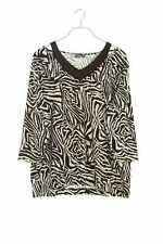 VIA APPIA DUE 3/4-Arm-Shirt Zebra Print Oberteil Top